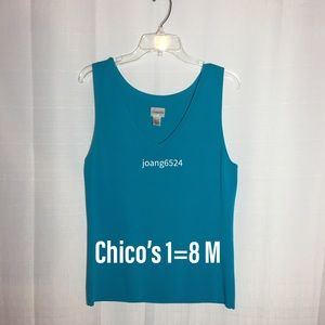 Chico's turquoise sweater tank 1=8 M